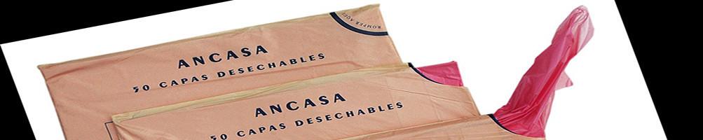 Capas desechables en bolsa salida 1 a 1 (100X110cm)